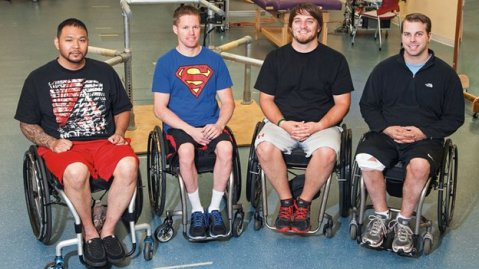 Andrew Meas, Dustin Shillcox, Kent Stephenson and Rob Summers were treated at the University of Louisville's Kentucky Spinal Cord Injury Research Centre.