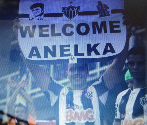 a fan with a banner written Welcome Anelka. But he is not any longer