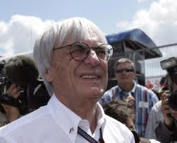 Portrait of Bernie Ecclestone on a grid