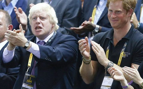 Prefeito de Londres Boris Johnson e Principe Harry
