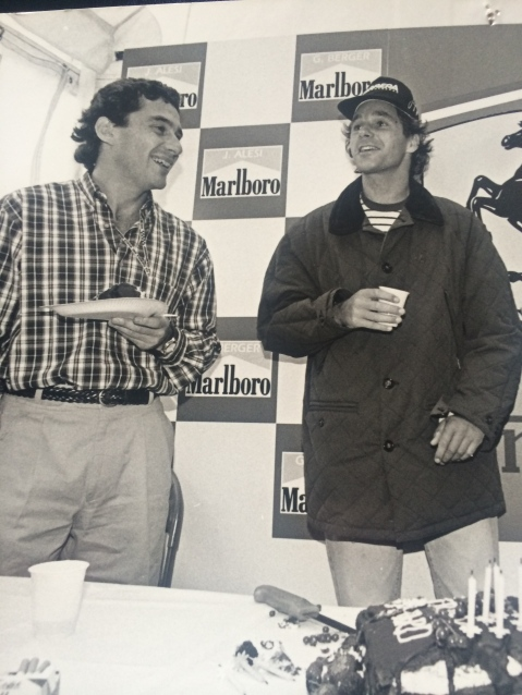 The best friendship in F1. This was taken at Gerhard's birthday in 1993