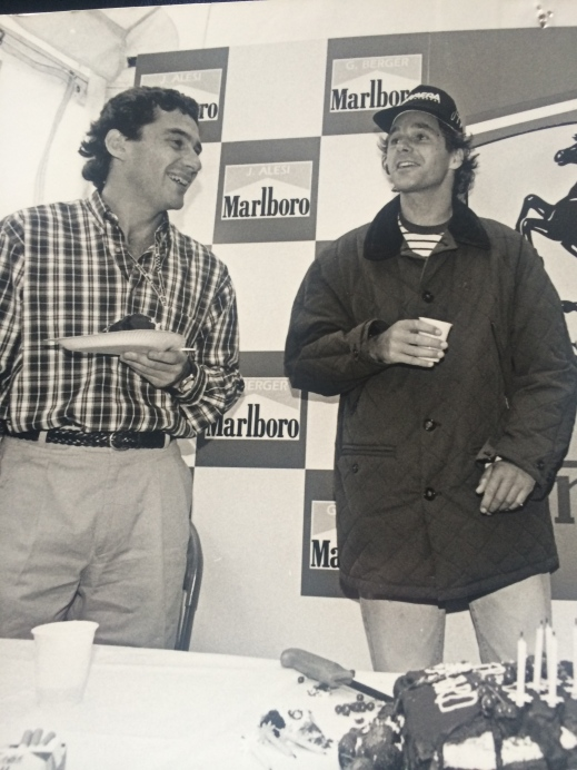 The best friendship in F1. This was taken at Gerhard's birthday in 1993